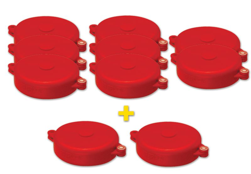 Kit di 8 dispositivi di bloccaggio per valvole a volantino + 2 gratuiti