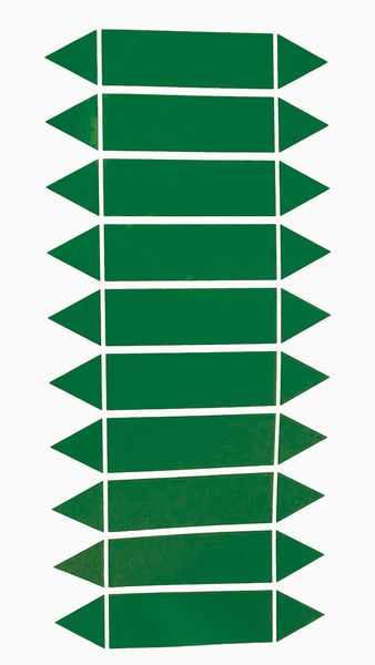 Etichette adesive per tubazioni da completare