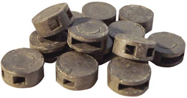 Piombini per sigilli in metallo naturale