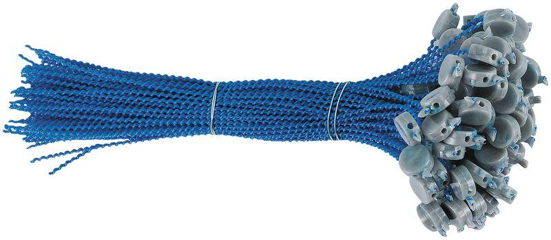 Piombi sigillo in plastica su filo perlano in plastica