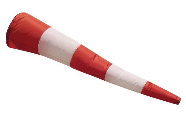 Manica a vento in poliestere rosso e bianco