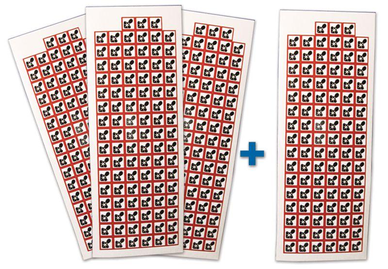 """Pack da 4 tavole di pittogrammi CLP """"Rischio mutageno, respiratorio, cancerogeno e per la riproduzione"""" (3+1 gratuita)"""""""