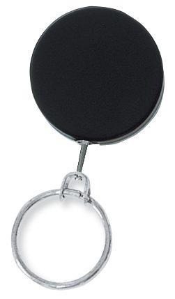 Avvolgitore zip porta-badge, in metallo, con molletta per cintura