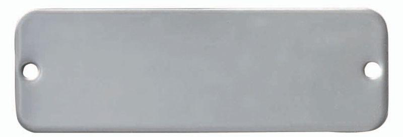 Targhette aziendali neutre in alluminio, ottone e acciaio