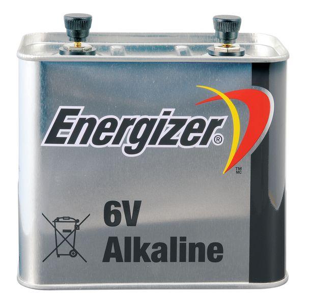 Pila alcalina quadrata 6V per lampade e fari da cantiere
