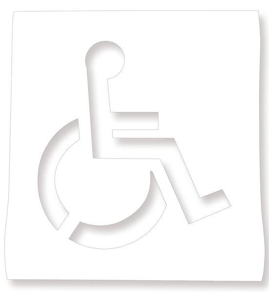 """Stencil """"Sedia a rotelle"""" per segnaletica orizzontale"""