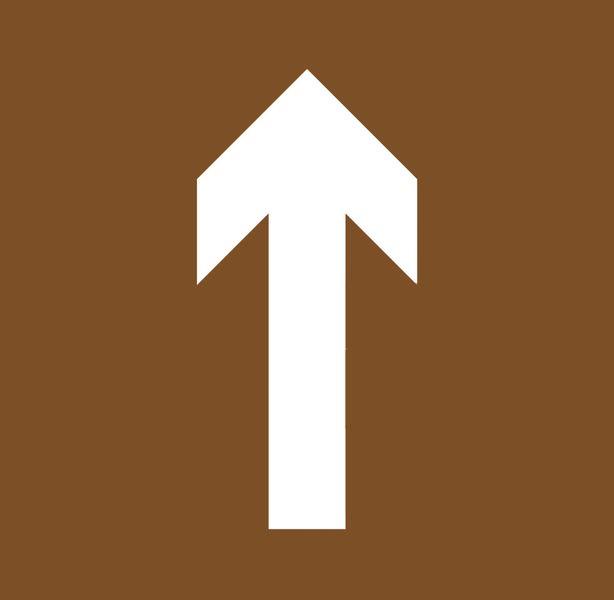 """Stencil in legno per segnaletica orizzontale """"Freccia direzionale orientabile"""""""