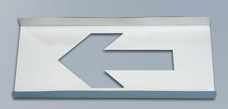 """Stencil per segnaletica orizzontale uscita di emergenza """"Freccia direzionale"""""""