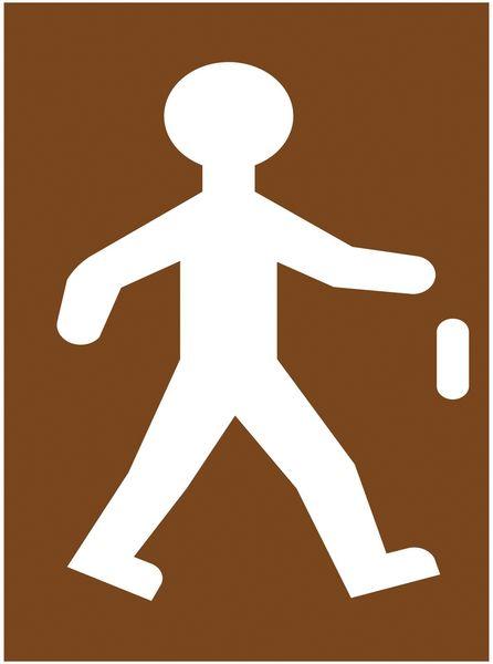 """Stencil in legno per segnaletica orizzontale """"Pedoni"""""""