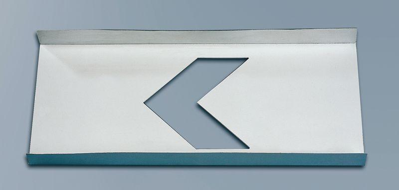 """Stencil per segnaletica orizzontale uscita di emergenza """"Testa di freccia"""""""