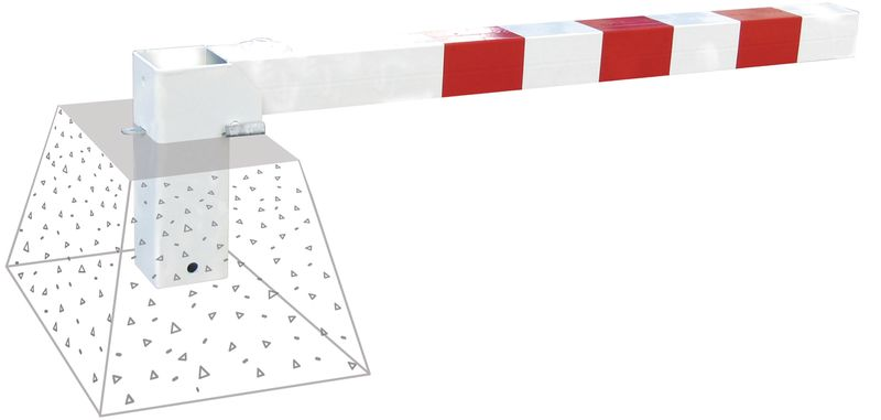 Paletto stradale ribaltabile rosso e bianco