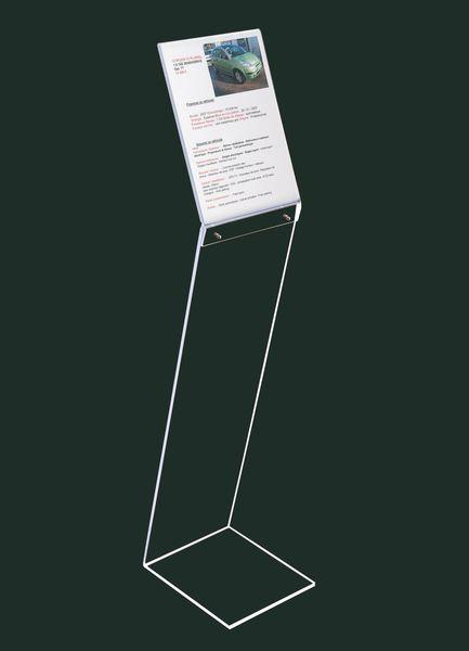 Espositore di documenti a leggio da terra in plexiglas