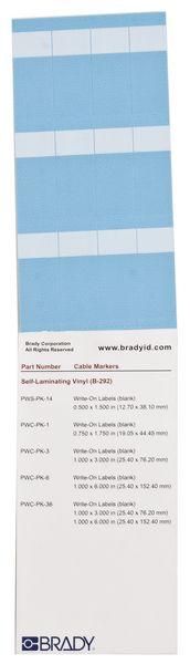 Etichette per cavi neutre in vinile