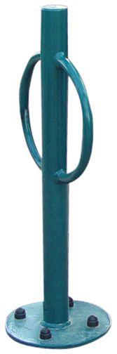 Portabiciclette da terra con supporto centrale antifurto