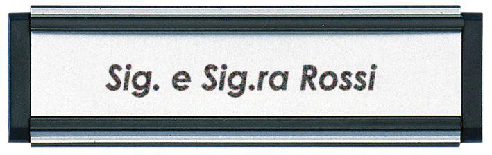 Porta etichette in PVC con targhetta scorrevole
