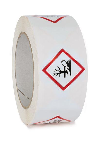 """Nastro da imballaggio CLP """"Pericolo per l'ambiente"""" in polipropilene"""