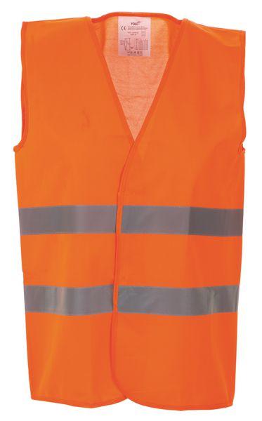 Gilet di sicurezza fluorescenti standard con 2 cinture retroriflettenti
