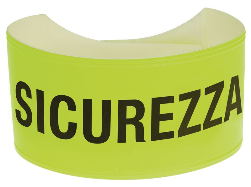 Bracciali di sicurezza fluorescenti con testo in PVC morbido