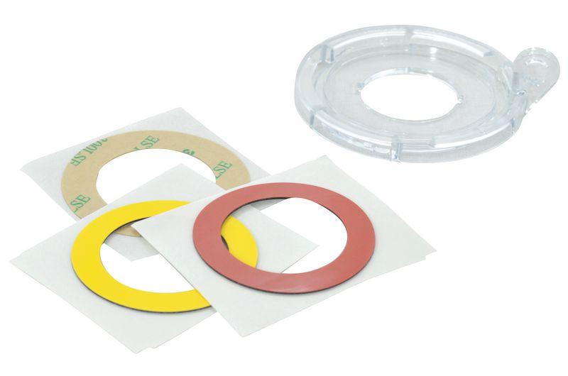 Basi adesive per bloccaggio di pulsanti