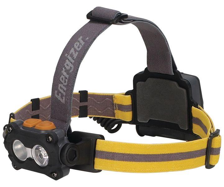 Lampada frontale a 2 LED adattabile su casco di sicurezza