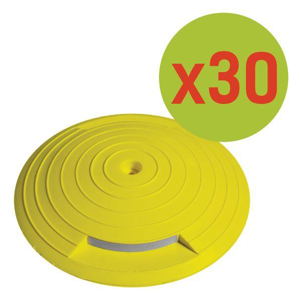 Prezzo speciale - Kit da 30 chiodi stradali riflettenti in plastica