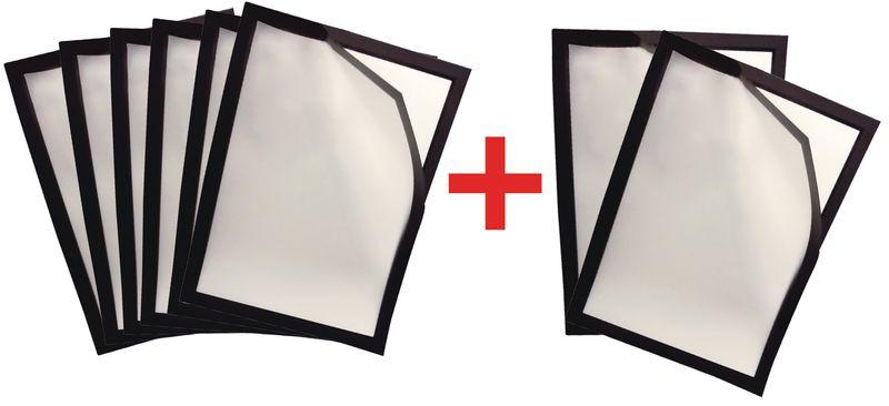 Kit da 6 portadocumenti con chiusura magnetica + 2 gratuiti