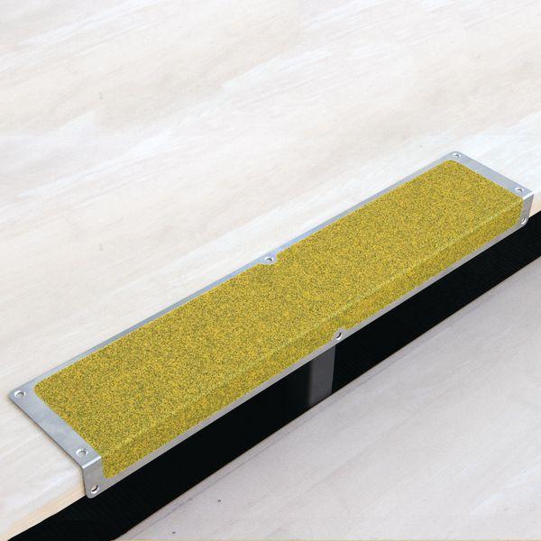 Lastre antiscivolo per gradini in alluminio giallo pubblico