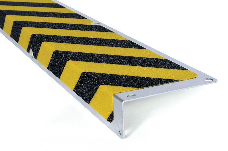 """Profili antiscivolo a """"L"""" per gradini in alluminio Easy Clean"""