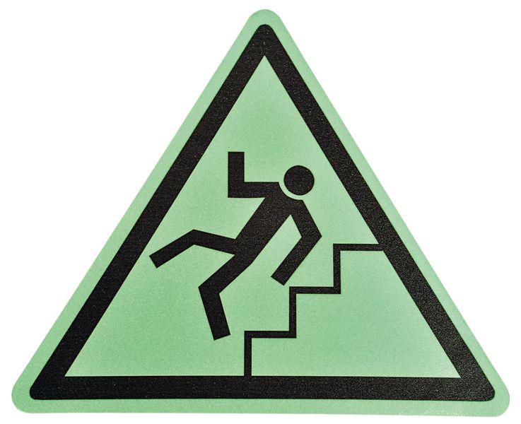 """Pittogramma antiscivolo per pavimento """"Pericolo scale"""""""