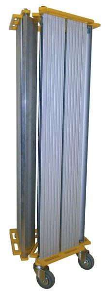 Rampa d'accesso pieghevole e avvolgibile in alluminio
