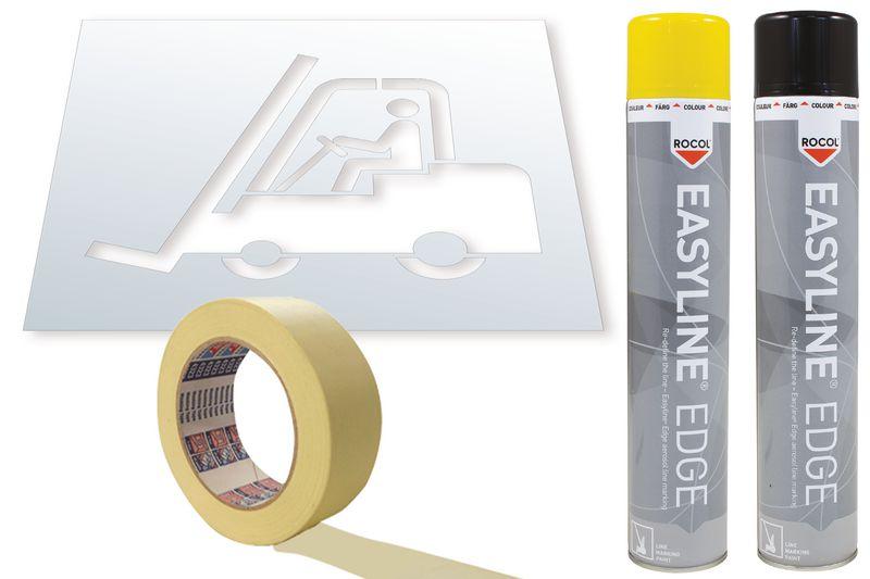 Kit stencil e vernice Easyline® simbolo Carrello elevatore