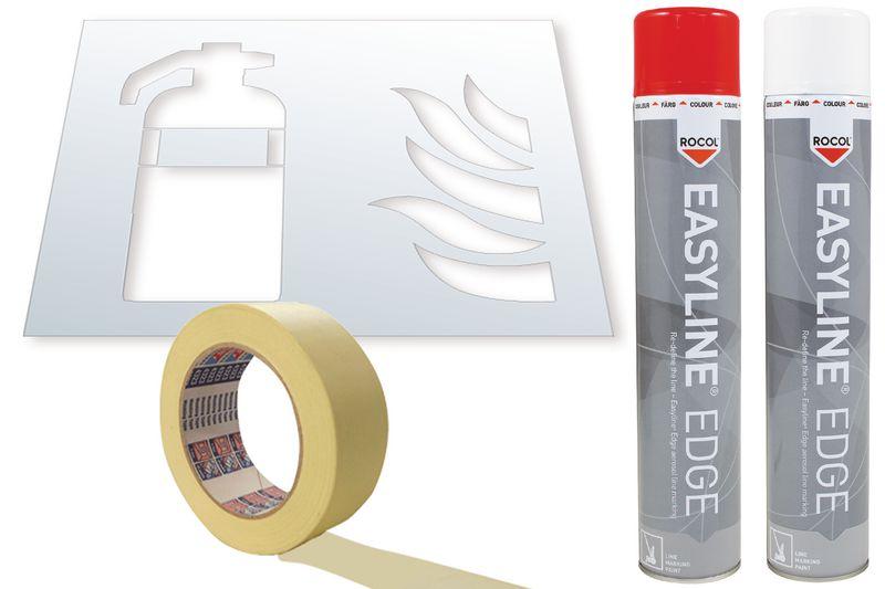Kit stencil e vernice Easyline® simbolo Estintore