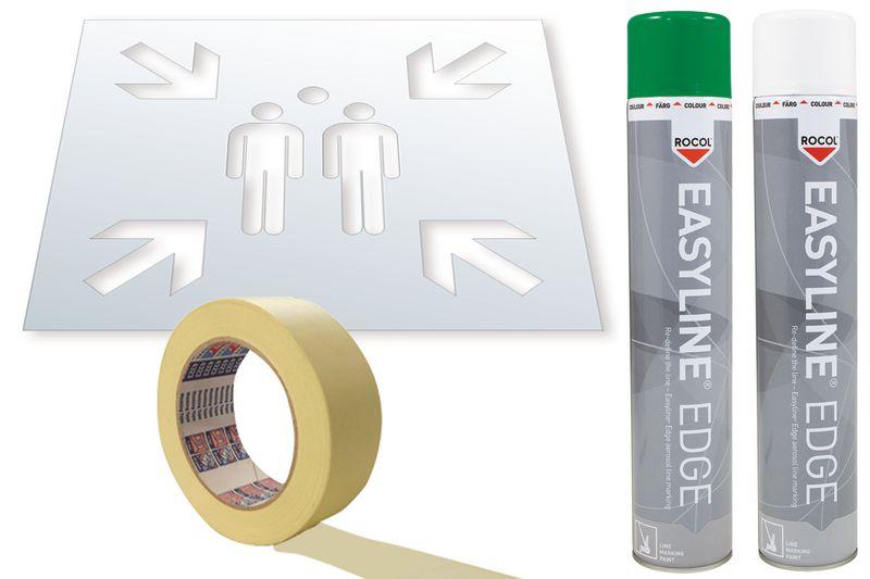 Kit stencil e vernice Easyline® simbolo Punto di ritrovo