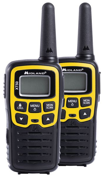 Coppia di walkie talkie PMR446 con custodia di trasporto