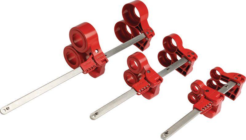 Dispositivo di bloccaggio per tubi a flangia