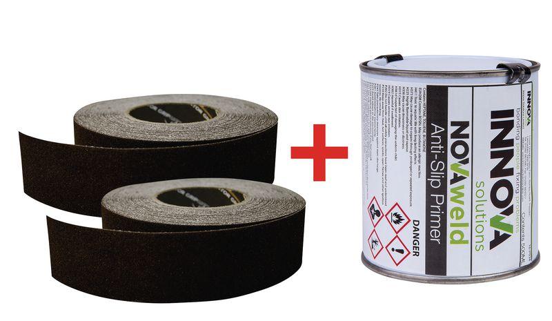 Kit di strisce antiscivolo adesive e primer