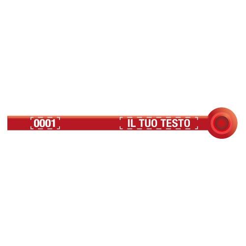 Sigilli di sicurezza a perimetro definito con testo e numerazione personalizzati - Loko