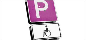 Accessibilità: Organizzazione dei posti auto riservati alle persone disabili