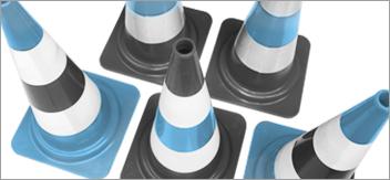 Come scegliere un cono di segnalazione da cantiere?