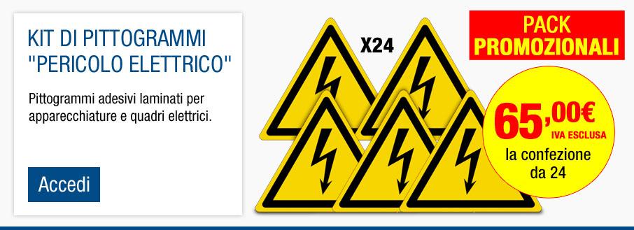 Kit di pittogrammi adesivi ISO 7010