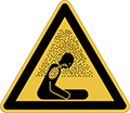 Cartello pericolo asfissia