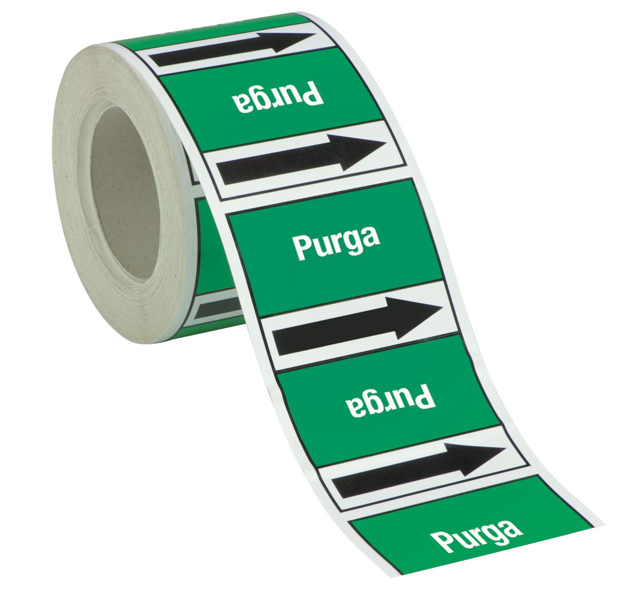 Etichette per tubazioni in rotolo continuo