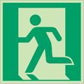 Cartello di evacuazione uscita di emergenza fotoluminescente
