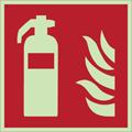 Cartello di sicurezza antincendio estintore fotoluminescente