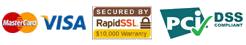 Modalità di pagamento: MasterCard / VISA securizzato da RapidSSL