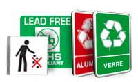 Borden en pictogrammen Scheiden van afval