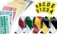 Grondmarkering en etiketten voor magazijn