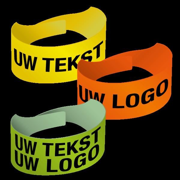 Fluorescerende armbanden van soepel PVC – Online personaliseerbaar