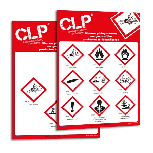 Personaliseerbare magnetische borden met CLP-pictogrammen