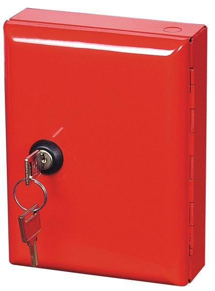 Rode sleutelkast van staal